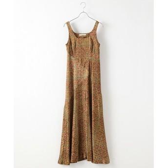 DRESS UP CLOSET/ドレスアップクローゼット Floral paneled dress Gold 36