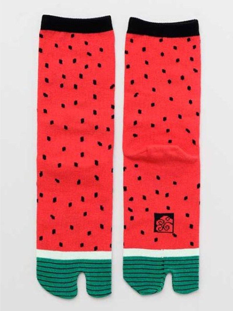 【熱門預購】西瓜昆蟲兩趾襪 足袋 (23-25cm) 7JKP7103 交換禮物