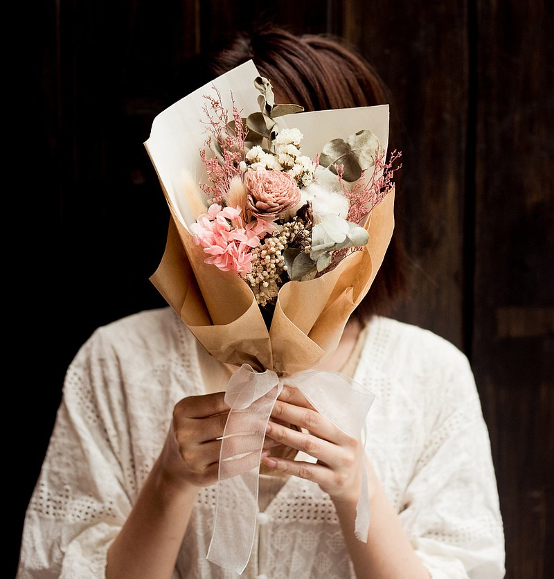 朵朵時光.莫蘭迪色粉色畢業花束  畢業花禮 不凋花乾燥花束