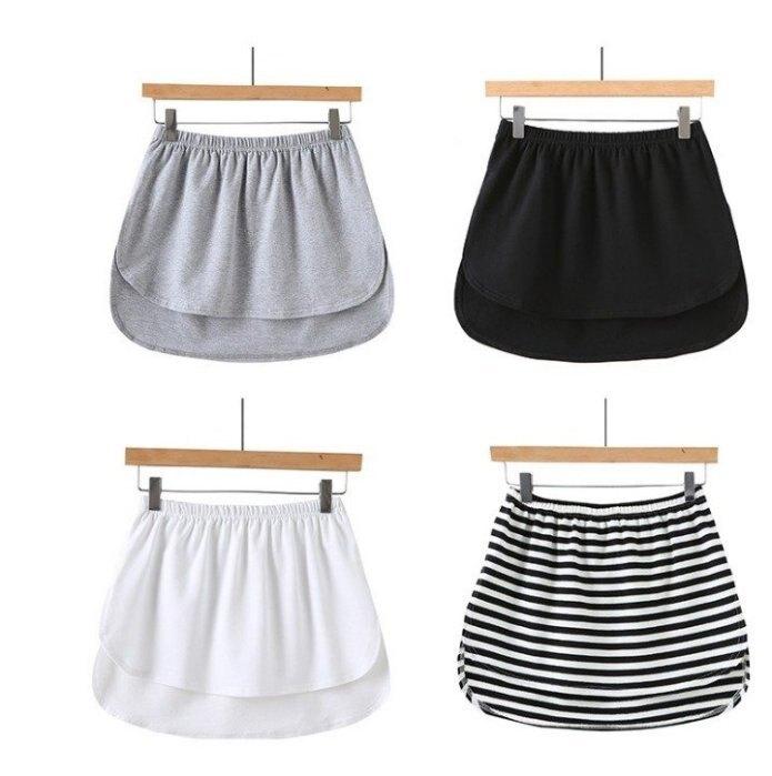 新款純棉圓邊開衩前短後長性感A字裙極限超短裙迷你裙 5色 CR01