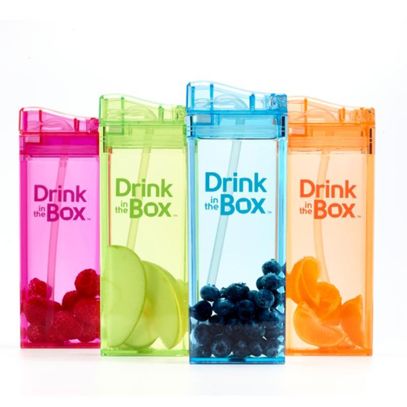 兒童戶外方形水杯組合(355+235ml)-5色 藍色(355ml) + 藍色(235ml)