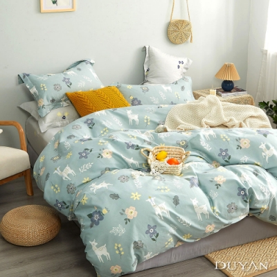 DUYAN 竹漾 雙人床包三件組 花鹿鹿