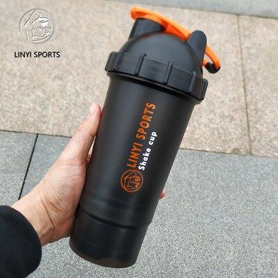 搖搖杯 二層運動健身香蕉搖搖杯蛋白粉攪拌奶昔杯帶刻度大容量水杯帶粉盒『MY3530』