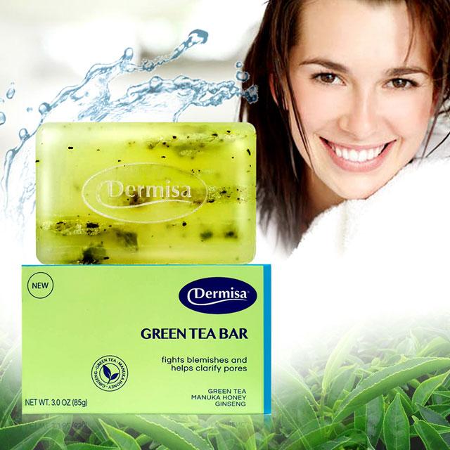 Dernisa紐約熱銷毛孔皂 綠茶清爽粉刺淨膚皂85g