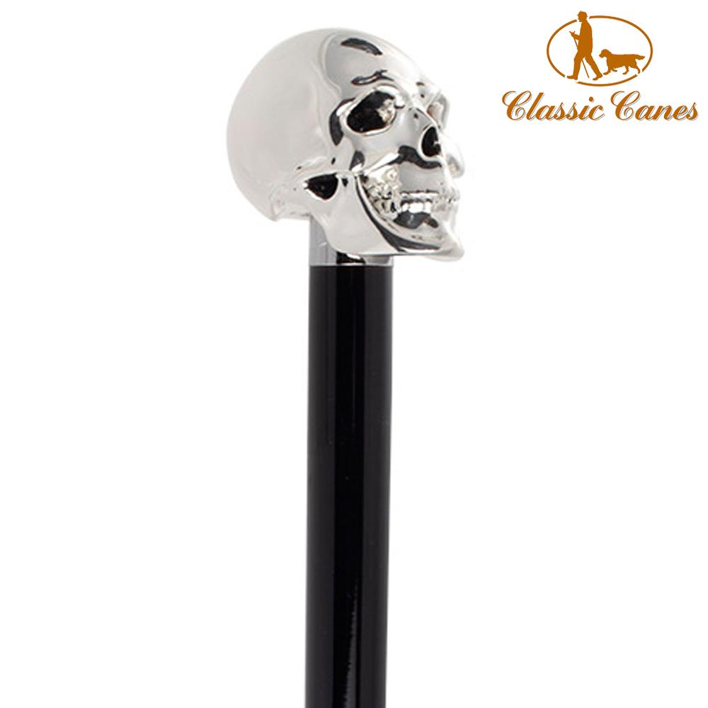 英國Classic Canes 造型權杖-銀色骷顱頭造型(88cm)