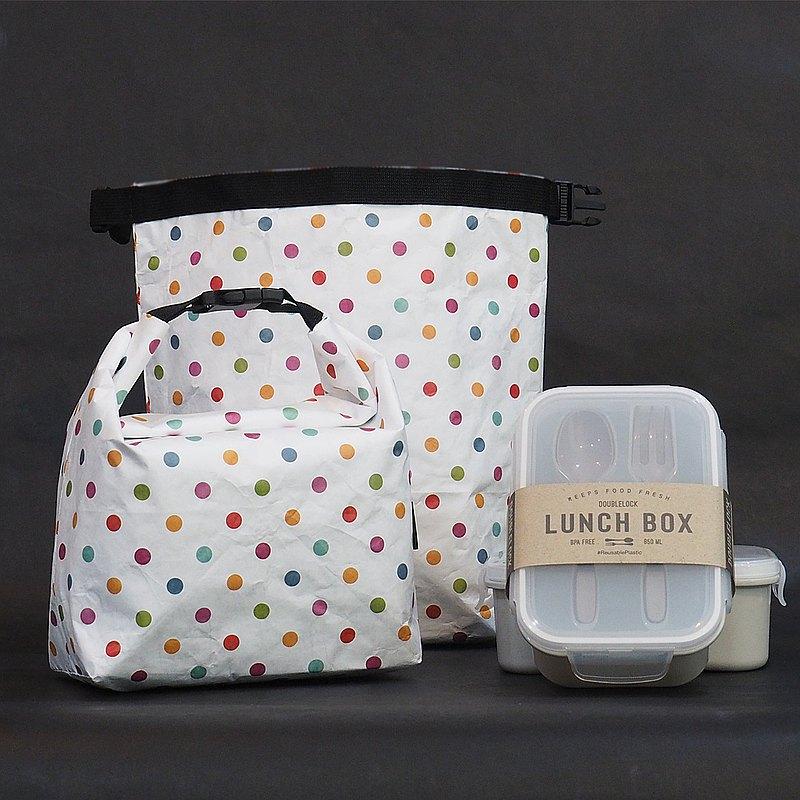 1個保溫袋+ 2個餐具的食物盒 保溫保冷袋 / 冷/熱食 / 便當袋