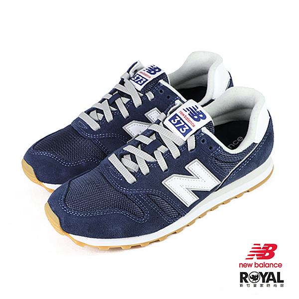 New balance 373 藍色 麂皮 休閒運動鞋 男女款NO.B1453【新竹皇家 ML373DB2】