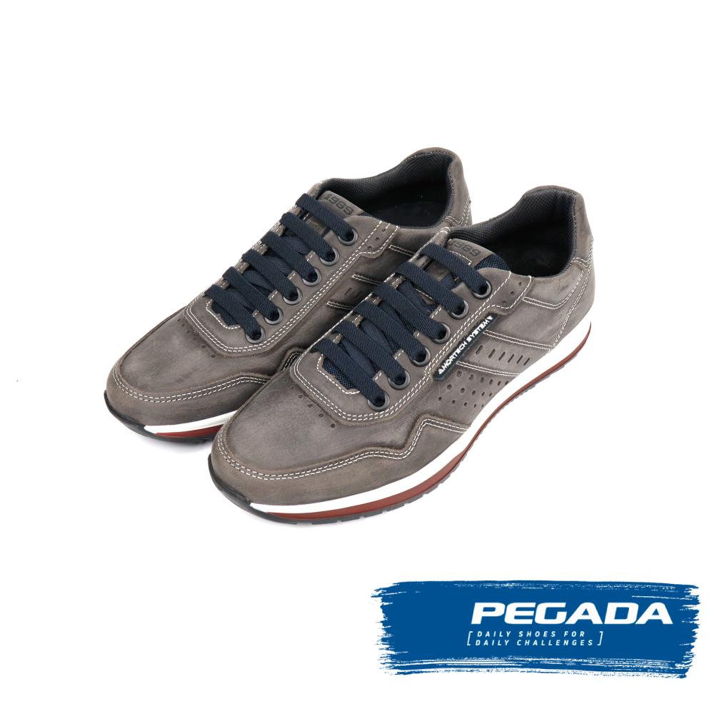 【PEGADA】運動風多功能氣墊休閒鞋-岩石灰(118401-DGY)