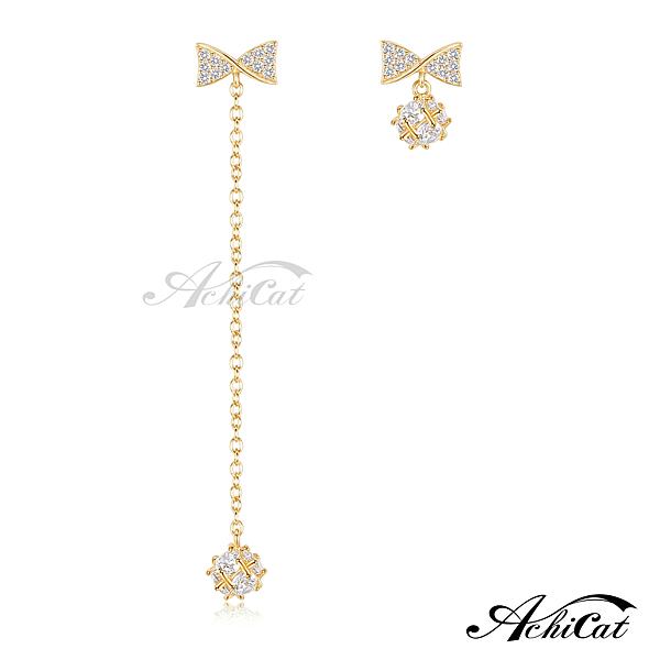 AchiCat不對稱耳環女款 925純銀甜蜜禮物抗過敏S925銀耳環 (金色款單副)GS7129