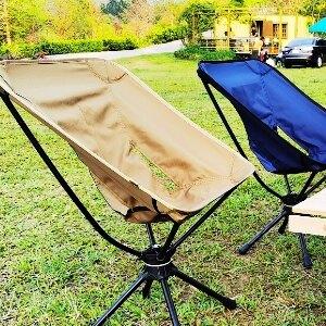 美麗大街【109051460】戶外折疊椅360度可旋轉休閒椅鋁合金超輕便攜釣魚椅露營旋轉椅子