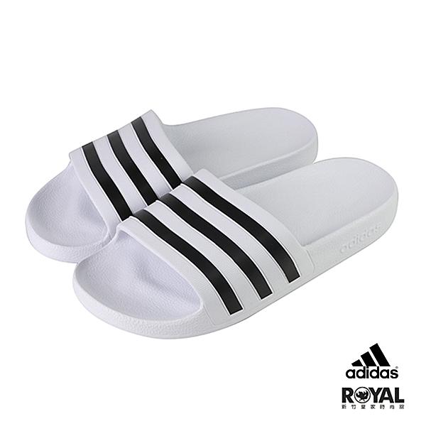 Adidas 白色 橡膠 防水 涼拖鞋 男女款NO.H2907【新竹皇家 F35539】