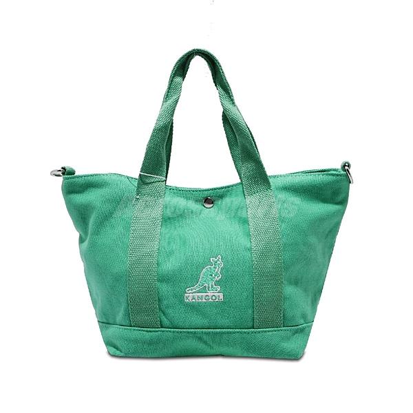 Kangol 托特包 Tote Bag 綠 白 男女款 袋鼠 側背包 兩用 【ACS】 6955300572