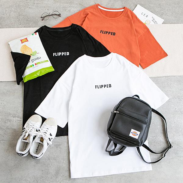 MUMU【T29304】FLPPED基本字母上衣。三色