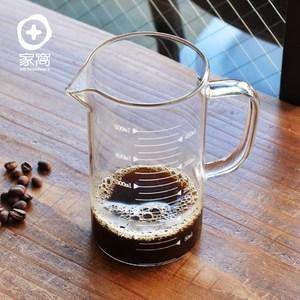 【+O家窩】悶蒸十五附刻度耐熱玻璃咖啡公杯量壺-500ml單一規格
