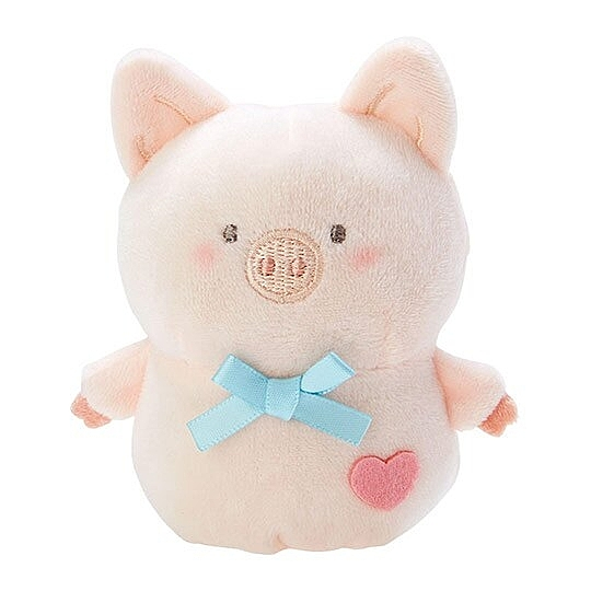小禮堂 胖胖豬 手指娃娃 絨毛 玩偶 指偶 手偶 布偶 玩具 (米) 4550337-41015
