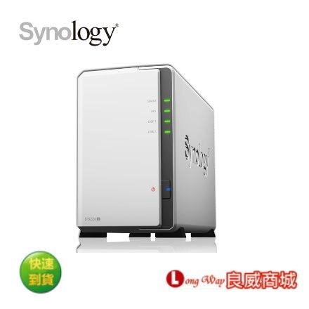 Synology群暉科技 DiskStation DS220j 2Bay NAS (不含硬碟)~加碼送隨身碟~
