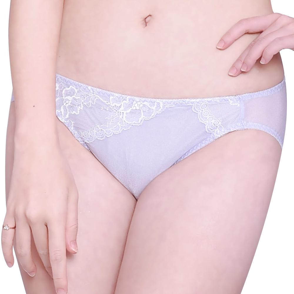 SWEAR 思薇爾 花薔系列M-XL蕾絲低腰三角內褲(安平紫)