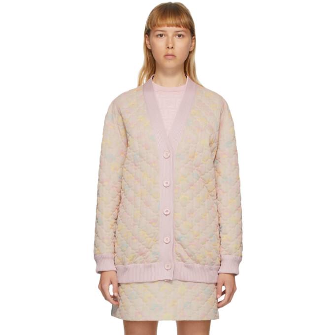 Fendi 粉色 Daisies 绗缝开衫