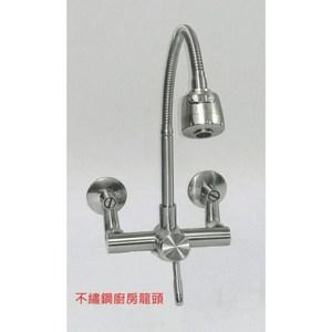 不鏽鋼廚房壁式水龍頭 1HW2-LV-06【大巨光】