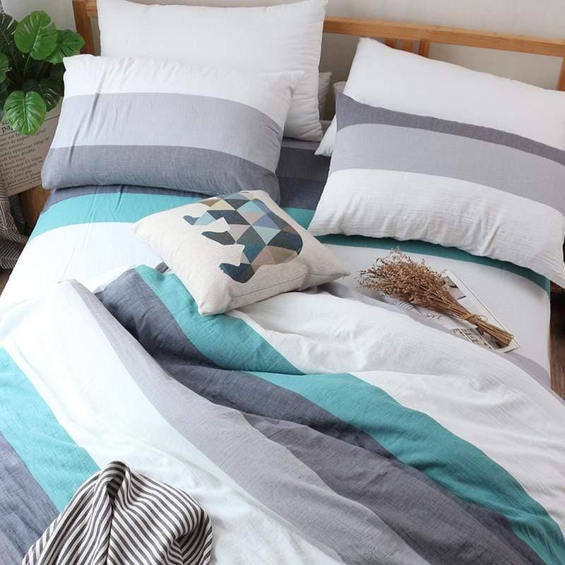 風通二重紗被套床包組 雙人加大6尺 (九款可選) 藏格_棕