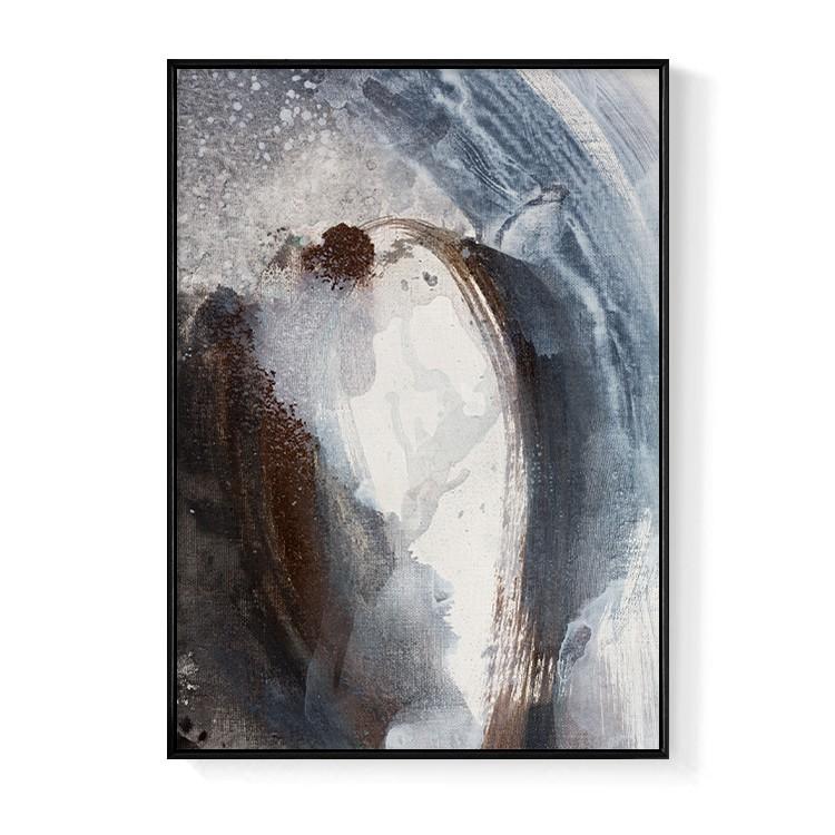 抽象畫 • 海的浩蕩II-玄關掛畫/臥房/複製畫/抽象畫/床頭櫃/新年佈置