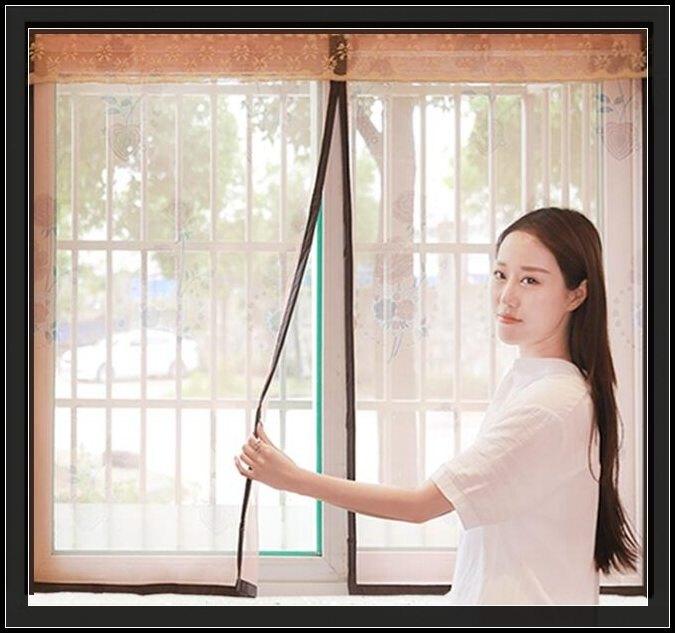 門簾-窗戶防蚊紗窗網磁性防蚊紗窗自黏型紗門簾磁鐵沙窗紗網窗簾免打孔