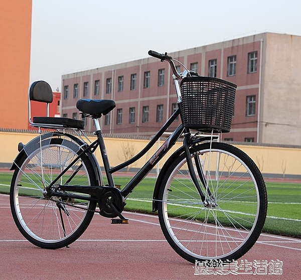 單車自行車成人男代步城市騎行女式自行車26寸24寸成人女學生輕便 【優樂美】YDL