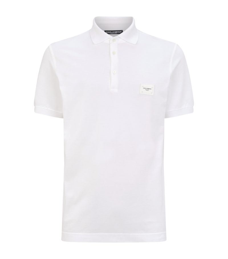 Dolce & Gabbana Logo Plaque Polo Shirt