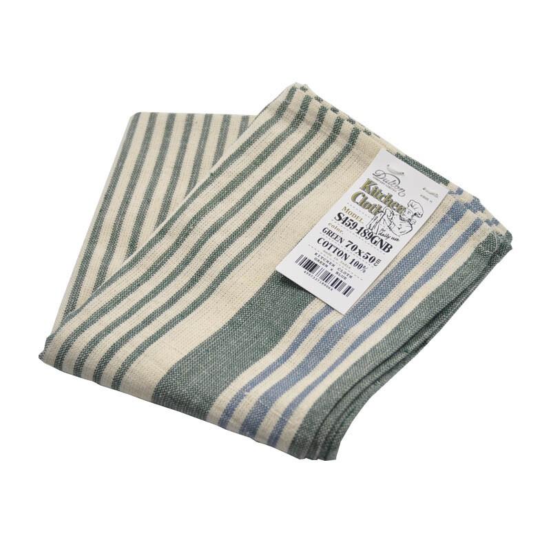 [偶拾小巷] 日本 DULTON 100%印度綿 家事布 擦拭巾 - 綠/藍