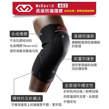 售完為止MCDAVID 長版防撞護膝(MD403-M) [大買家]