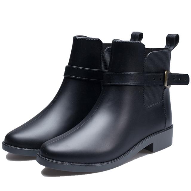 【韓國K.W.】Y4695 小香風豔媚晴雨二用雨靴短靴