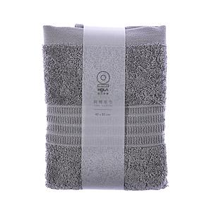HOLA 土耳其典雅素色毛巾-銀灰40x80cm