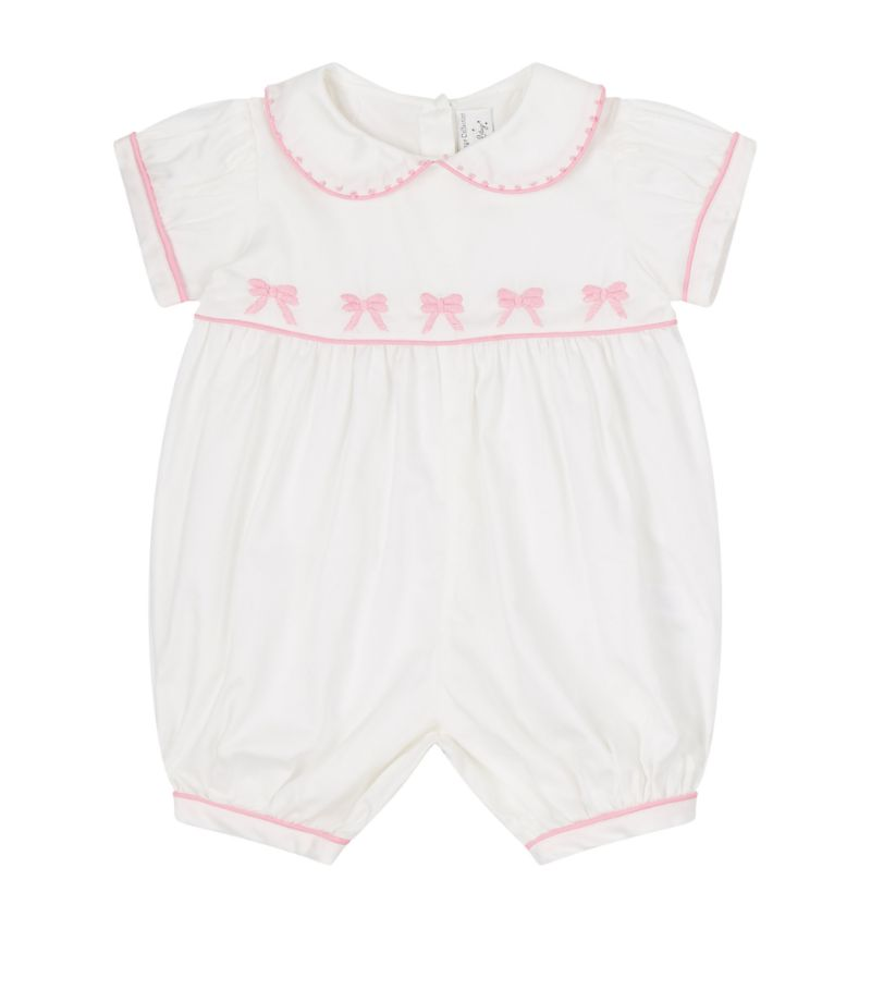 Rachel Riley Bow Embroidered Playsuit (3-18 Months)