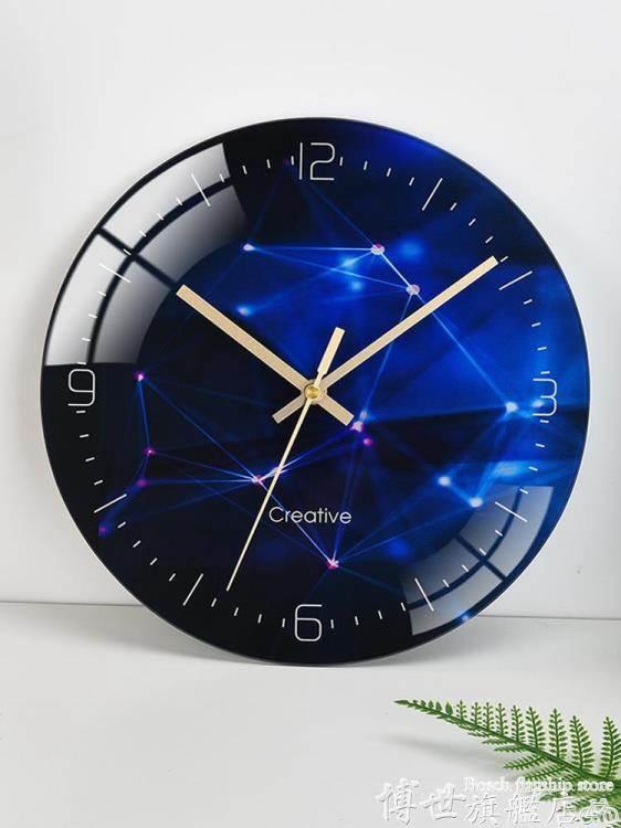 掛鐘 藝術掛鐘北歐圓形創意簡約個性現代時尚家用客廳靜音電子石英時表 愛麗絲LX