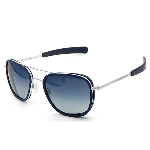 【RANDOLPH】墨鏡太陽眼鏡 AI006 58 霧銀配藍 漸層藍鏡片AR 美國製 軍規認證 飛官款 58mm