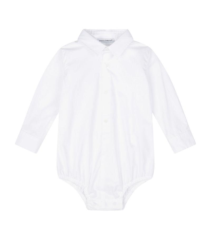 Dolce & Gabbana Kids Poplin Shirt Bodysuit