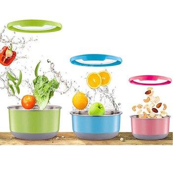 TOP-CHEF 不鏽鋼保鮮碗- 顏色隨機出貨(720ML) [大買家]