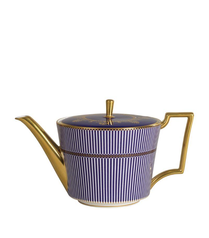 Wedgwood Prestige Anthemion Blue Teapot