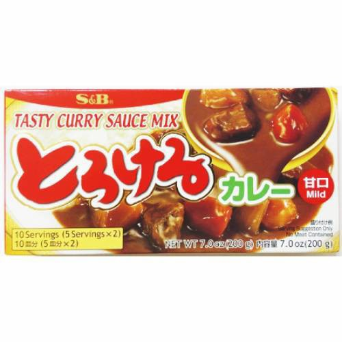 S&B 特樂口野菜咖哩-甘口(200g/盒)[大買家]