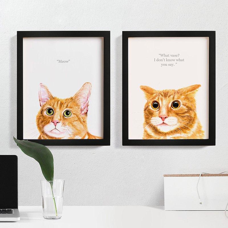 貓思貓言喵語11x14英寸裝飾畫 給貓咪貓奴的禮物