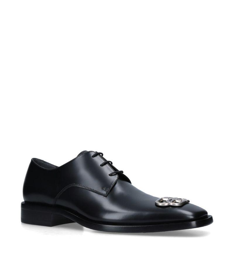 Balenciaga Leather Rim Bb Derby Shoes