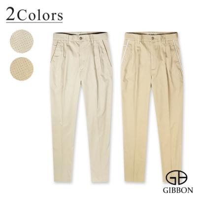 GIBBON 圓點天絲棉彈性打摺休閒褲-二色