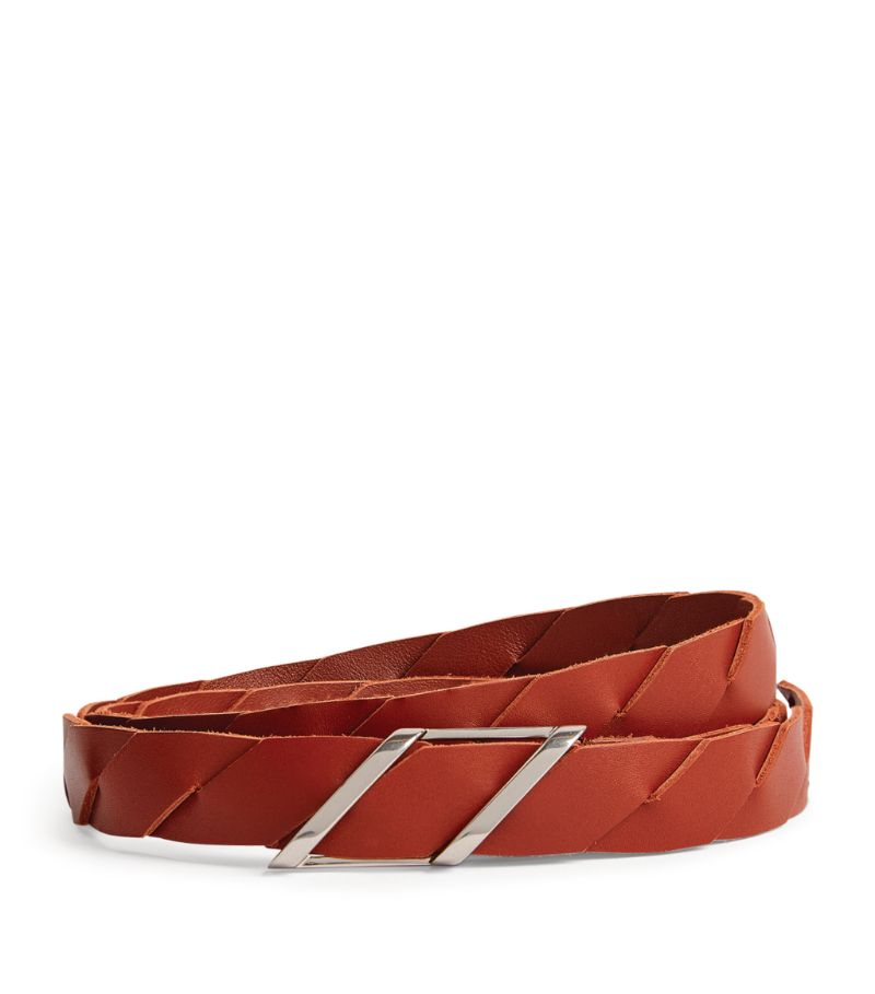 Bottega Veneta Leather Woven Belt