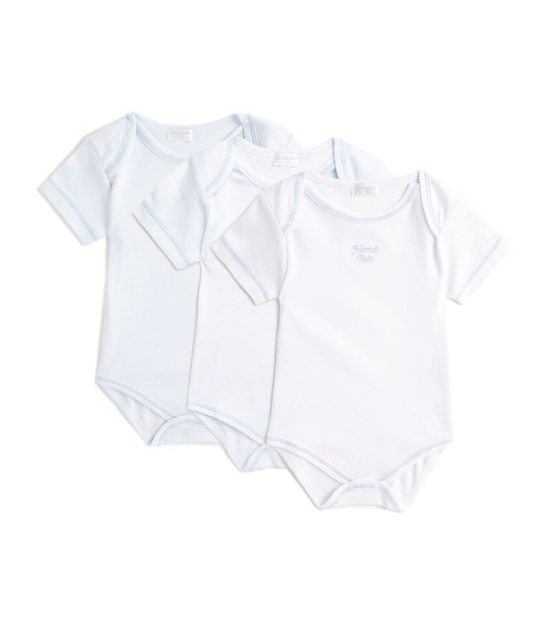 Harrods Of London Pima Cotton Bodysuit (Set Of 3)
