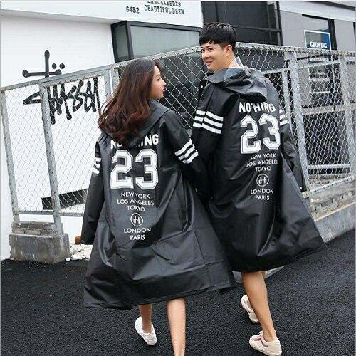 徒步款長版雨衣(XL 黑) [大買家]