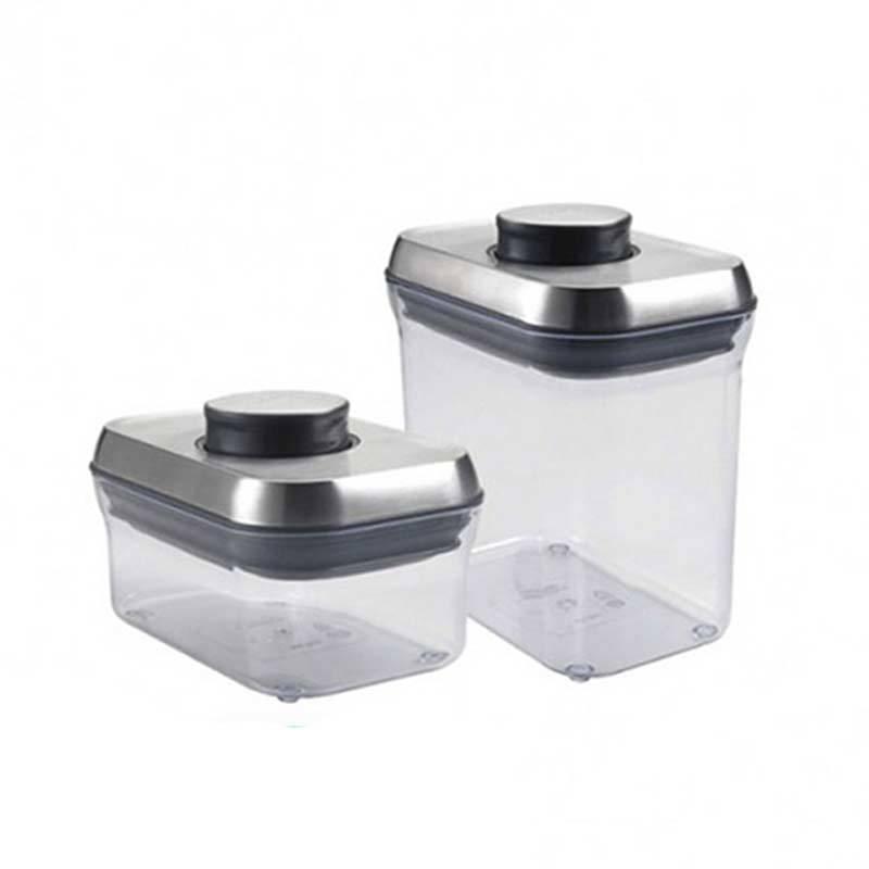 POP 不鏽鋼保鮮收納盒-二件組(0.5L&1.4L)
