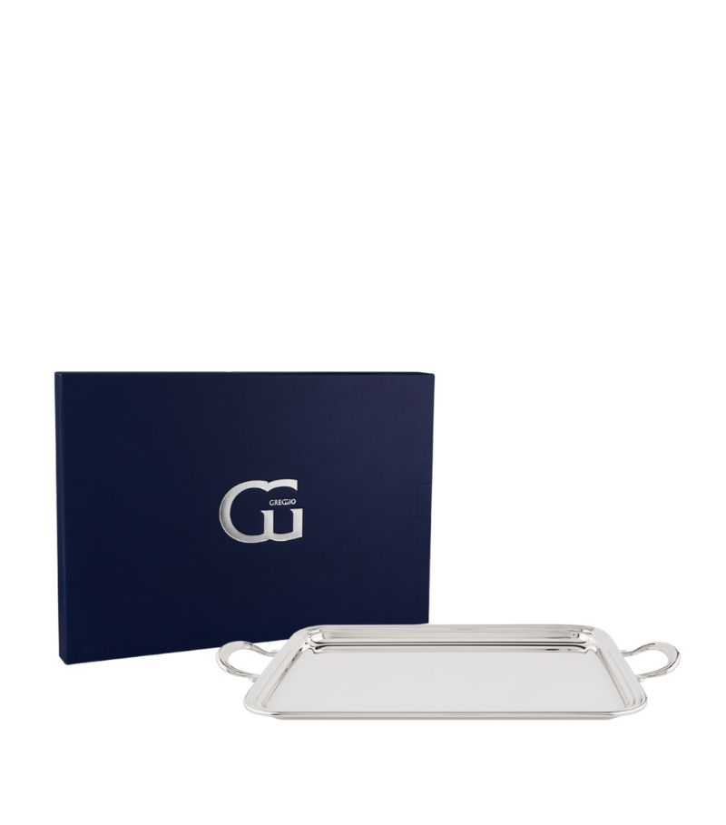 Greggio Silver-Plated English Tray With Handles (41Cm X 30Cm)
