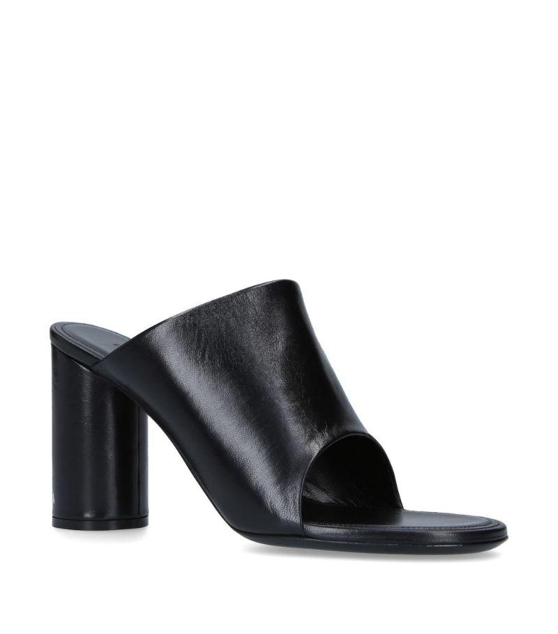 Balenciaga Leather Oval Mules 40