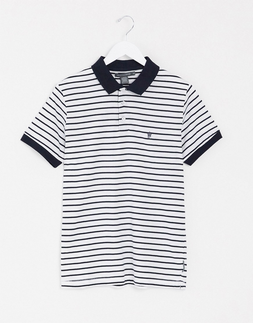 French Connection stripe polo-Navy