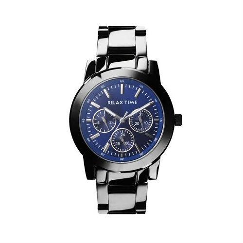 RELAX TIME 三眼黑x藍時尚腕錶 (R0800-16-07) 38mm